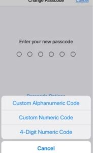 Choose Passcode Format