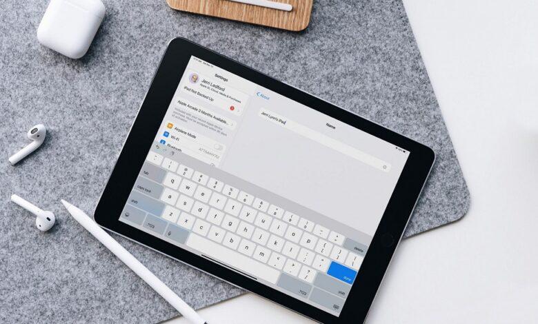 Rename or Change your iPad Name