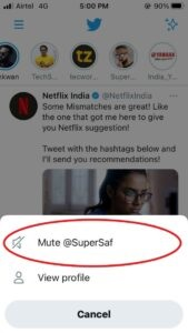 Mute On Twitter On Iphone