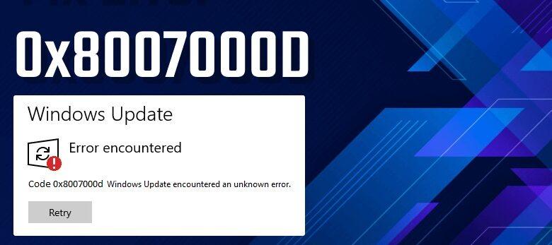 0x8007000d