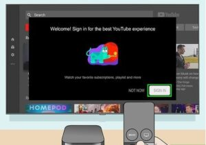 Activating YouTube on Smart TVs