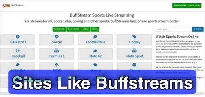 Buffstreams Alternatives