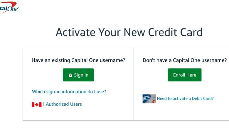 capitalone.com activate