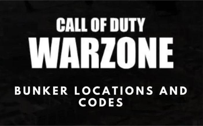 Warzone Bunker Codes